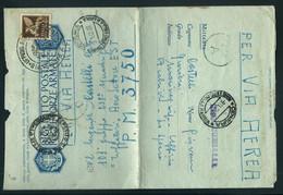 § BIGL. POST. PER LE FF.AA  UFF.SUP.R MARIMA X PM 3750 R.AERONAUT. 101°GRP 238° SQUADR.LIBIA § - War 1939-45