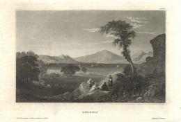 "GREECE Salamis ~1851 Stahlstich "" Salamis ""~15x10 Cm Gravure Engraving Incisione - Prenten & Gravure"
