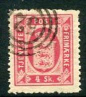 DENMARK 1871 Official 4 Skilling Perf. 12½, Used.  Michel 2B - Dienstpost