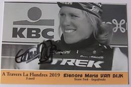 Elenora Maria VAN DIJK - Dédicace - Hand Signed - Autographe Authentique - Ciclismo