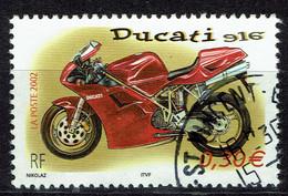 France, Moto Ducati, 2002, Obl, TB issu D'un Bloc De 10 - Used Stamps
