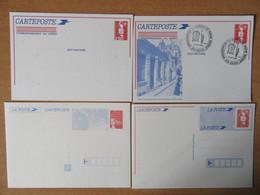 France - Lot De 4 Entiers Postaux Marianne Bicentenaire Et Marianne Du 14 Juillet Neufs - Lots Et Collections : Entiers Et PAP