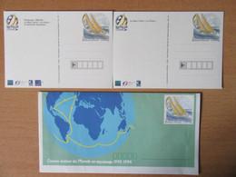 France - 3 Entiers Postaux (2 Cartes, 1 Enveloppe) - Course Autour Du Monde En équipage 1993-1994 - Lots Et Collections : Entiers Et PAP