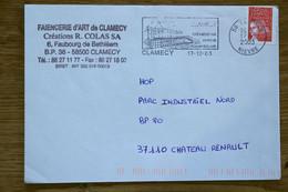 58 Nièvre - Flamme 2003 - CLAMECY - Cité Médiévale Patrie De Romain Rolland - Oblitérations Mécaniques (flammes)