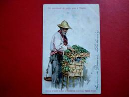 CPA EDITE PAR LA SOCIETE GENERALE DE CONSERVES - SAXON - SUISSE - LE MARCHAND DE PETITS POIS À NAPLES - NAPOLI (IT#4730) - 1900-1949