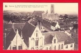 E-Belgique-150P54 DAMME, L'hôpital, St Jean, Rue De L'église, Façade Du XIIIème Siècle, Cpa BE - Damme