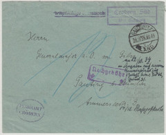 DR -Tröbern ü. Gaschwitz, Landpost-Ra2 A. Portopfl. Dienstbrief/Nachporto 1934 - Sin Clasificación