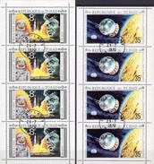 NASA Apollo-Programm 1971 Tchad 348+350 Als Kleinbogen O 8€ Raumflug Raketenstart Hoja Blocs S/s Sheetlets Bf Space - USA