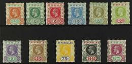 1912-16 KGV (wmk Mult Crown CA) Definitives Complete Set, SG 71/81, Very Fine Mint. (11 Stamps) For More Images, Please  - Seychelles (...-1976)
