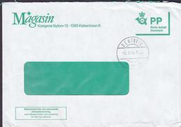 Denmark MAGASIN PP Porto Betalt Postage Paid 1986 Cover Brief Brotype GENTOFTE (Arr.) Cds - Cartas