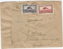 SAARGEBIET : Luftpostbrief Nach Belgien Mit 1fr Und 50c Luftpost - Ohne Zuordnung