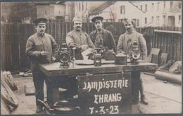 Carte Photo , Chemin De Fer , Lampisterie Ehrang , Gare , Trèves , Trier , 7 - 3 - 23 , Animée - Trier