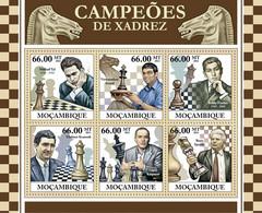 Mozambique 2011 MNH - Chess Champions (Mikhail Tal, Boris Spasski). Y&T 4368-4373, Mi 5414-5419, Scott 2465 - Mozambique