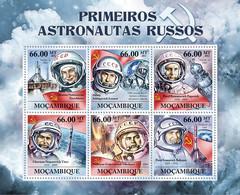 Mozambique 2011 MNH - First Russian Astronauts (V.V. Teresshkova, P.I.Belyayev). Y&T 4374-4379, Mi 5428-5433, Scott 2471 - Mozambico