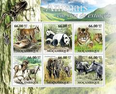 Mozambique 2011 MNH - Animals In Danger. Y&T 4332-4337, Mi 5323-5328, Scott 2488 - Mozambique