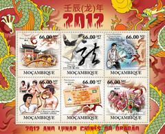 Mozambique 2011 MNH - Chinese Lunar Year Of Dragon 2012. Y&T 4386-4391, Mi 5246-5251, Scott 2520 - Mozambique