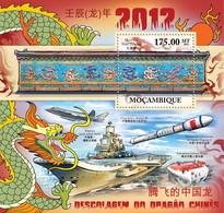 Mozambique 2011 MNH - Chinese Lunar Year Of Dragon 2012. Y&T 501, Mi 5252/Bl.553, Scott 2521 - Mozambico