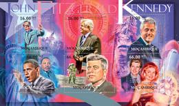 Mozambique 2012 MNH - John Fitzgerald Kennedy (1917-1963). Y&T 4555-4560, Mi 5554-5559, Scott 2533 - Mozambico