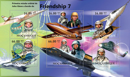 Mozambique 2012 MNH - John Glen - Friendship 7, First Space Mission,Aircrafts. Y&T 4639-4644, Mi 5624-5629, Scott 2551 - Mozambique