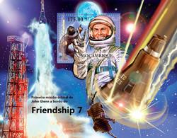 Mozambique 2012 MNH - John Glen - Friendship 7, First Space Mission,Aircrafts. Y&T 543, Mi 5630/Bl.607, Scott 2581 - Mozambique