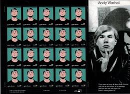 USA 2002 Sc 3652 MNH Neufs** - ANDY WARHOL - Acteurs