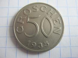 Austria 50 Groschen 1935 - Austria