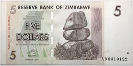 Zimbabwe - 5 Dollars - 2007 - PICK 66 - SPL - Zimbabwe