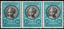 Luxembourg, Luxemburg CARITAS Princesse Elisabeth Bande 3x 10c. Neuf MNH** - Ongebruikt