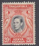 Kenya, Uganda, Tanganyika, Scott #74, Mint Hinged, George VI, Issued 1938 - Kenya, Uganda & Tanganyika
