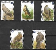 OCB Nr 4030/34 Buzin Fauna Faucon Valk Falcon Birds Oiseau Vegel MNH !!! Complete Set - Nuovi