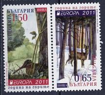Europa CEPT 2011 Bulgarie - Bulgarien - Bulgaria 2011 Y&T N°4275 à 4276 - Michel N°4969c à 4970c *** - Se Tenant - 2011