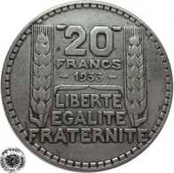 LaZooRo: France 20 Francs 1933 VF / XF - Silver - L. 20 Franchi