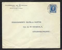 BELGIQUE 1920:  LSC Illustrée Pour Strasbourg Avec Affr. De 1,75Fr - Cartas