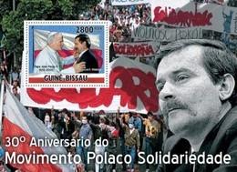 Guinea-Bissau, 2010. [gb10505] 30th Anniversary Of Polish Solidarity Movement, ( Pope & Lech Valesa ) (s\s+block) - Andere