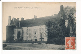 Carte D' AUNAY EN BAZOIS  Le Château  ( Recto Verso ) - Otros Municipios