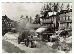 VALBERG Le Chasse-neige à Turbines / Fraiseuse En Action - Circulée 1958 - Other Municipalities