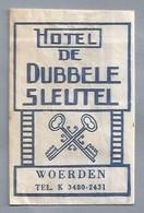 NL.- WOERDEN. HOTEL - DE DUBBELE SLEUTEL -.. Suikerzakje. Sucre. Sugar. Zucker. Zucchero. - Azúcar