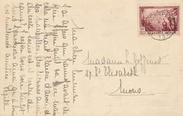 België - 1933 - 50 Cent Tuberculosebestrijding Op Ansicht Van Froidcapelle Naar Mons - Cartas