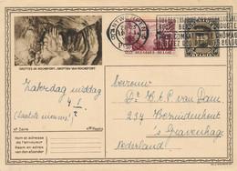 België - 1933 - 50 Cent Tuberculosebestrijding Op 50c Briefkaart Van Antwerpen Naar Den Haag / NL - Grotten Rochefort - Cartas