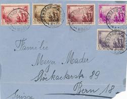 België - 1932 - 5 Zegels Uit Serie Tuberculosebestrijding Op Voorzijde Van Antwerpen Naar Bern / Schweiz - Front Only - Cartas