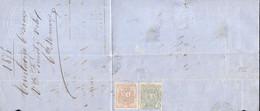 Año 1874 Edifil 153-154 Envuelta Matasellos Torrelavega Santander Membrete Viuda De Fireat Y Velo - Lettres & Documents