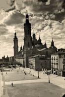 ZARAGOZA  ASPECTO PARCIAL DE LA AVENIDA DE LAS CATEDRAES Y TEMPLO DEL PILAR   ZARAGOZA ARAGON ESPAÑA ESPAGNE - Zaragoza