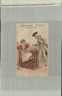 PUBLICITE Chromo- Litho Chocolat Klaus Le Locle (Suisse),Morteau (France) Femme , Chat Joue  Soldat   (JANV 2021 -2  111 - Other