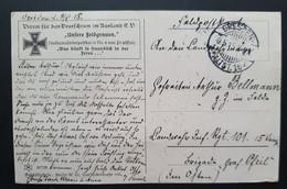 """Deutsches Reich 1915, Feldpost Postkarte DRESDEN """"Unsere Feldgrauen"""" - Covers & Documents"""