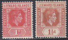 Leeward Islands, Scott #105-106, Mint Never Hinged/Hinged, George VI, Issued 1938 - Leeward  Islands