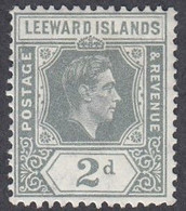 Leeward Islands, Scott #107, Mint Hinged, George VI, Issued 1938 - Leeward  Islands