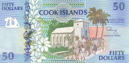 Cook Islands P.10 50 Dollars 1992  Unc - Cook Islands