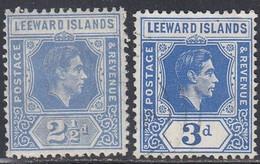Leeward Islands, Scott #108, 125, Mint Hinged/Used, George VI, Issued 1938, 1949 - Leeward  Islands