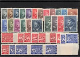 DR Besetzung Abstimmung Böhmen Und Mähren Lot Postfrisch ** 90 Werte Mint - Coordination Sectors