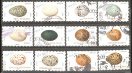 FRANCE 2020 Y T N ° 1839/1850 Série Complète Oblitérée Cachet Rond Les Oeufs - Used Stamps